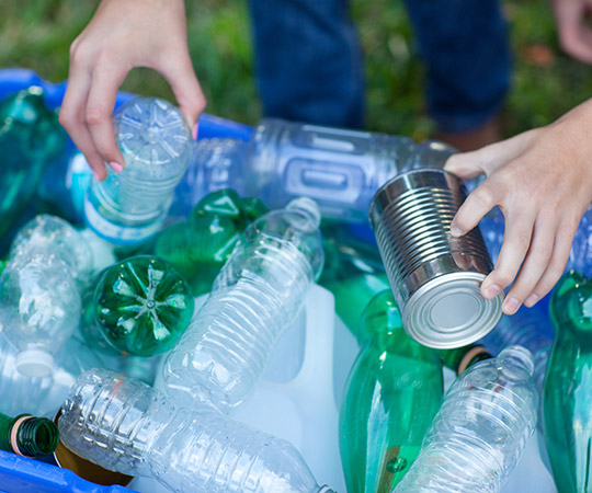 Recycling Plastic, Aluminum and Glass